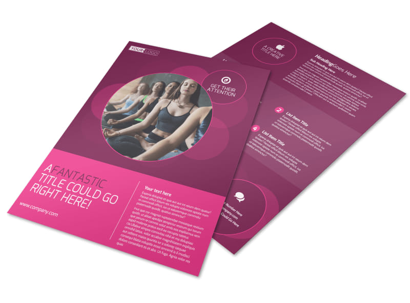 Core Yoga Fitness Flyer Template Preview 4