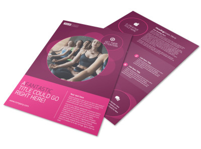 Core Yoga Fitness Flyer Template