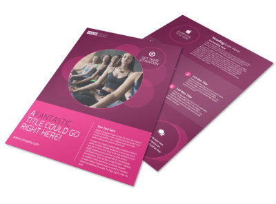 Core Yoga Fitness Flyer Template preview