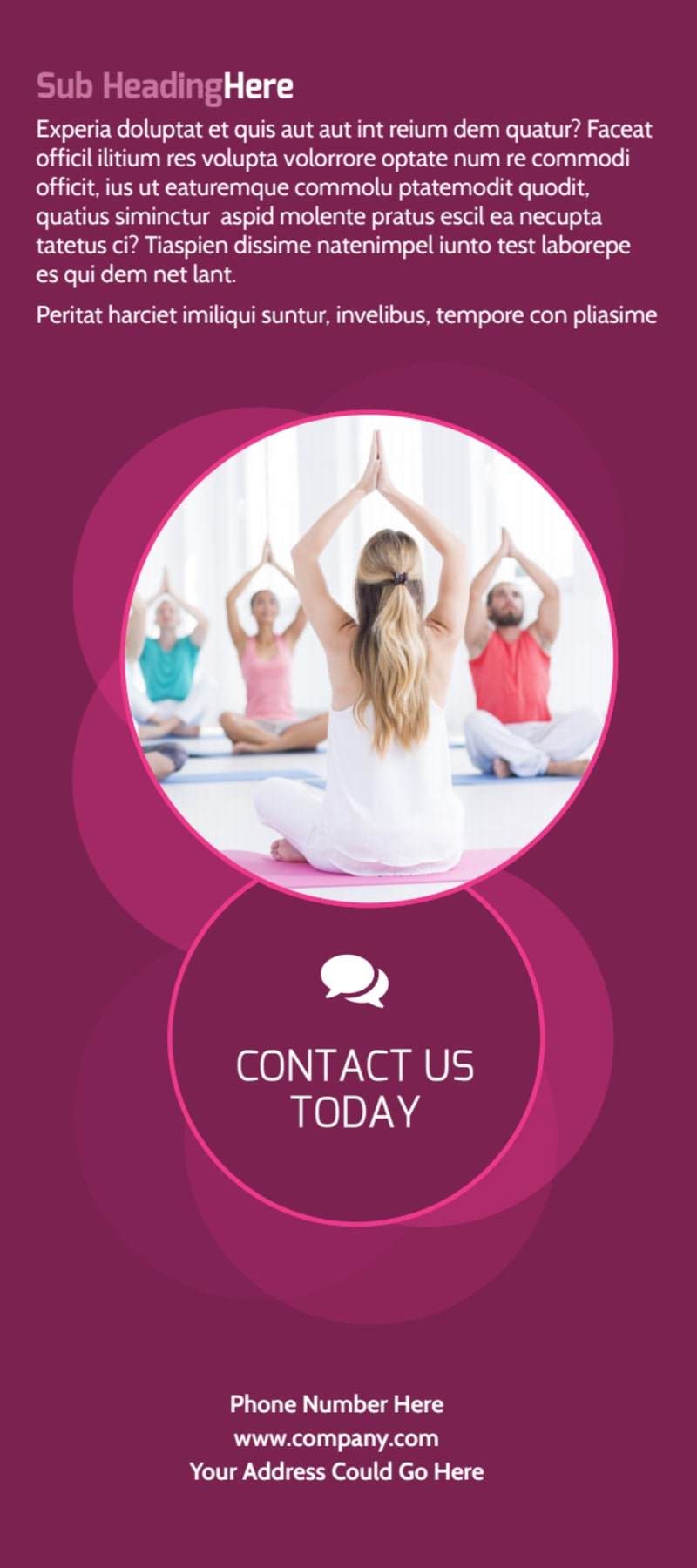 Core Yoga Fitness Flyer Template Preview 3