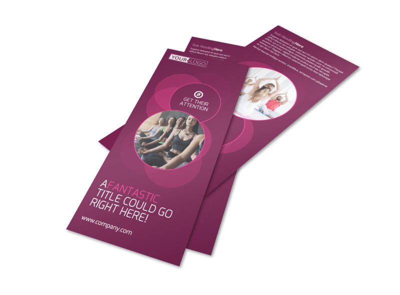 Core Yoga Fitness Flyer Template Preview 1