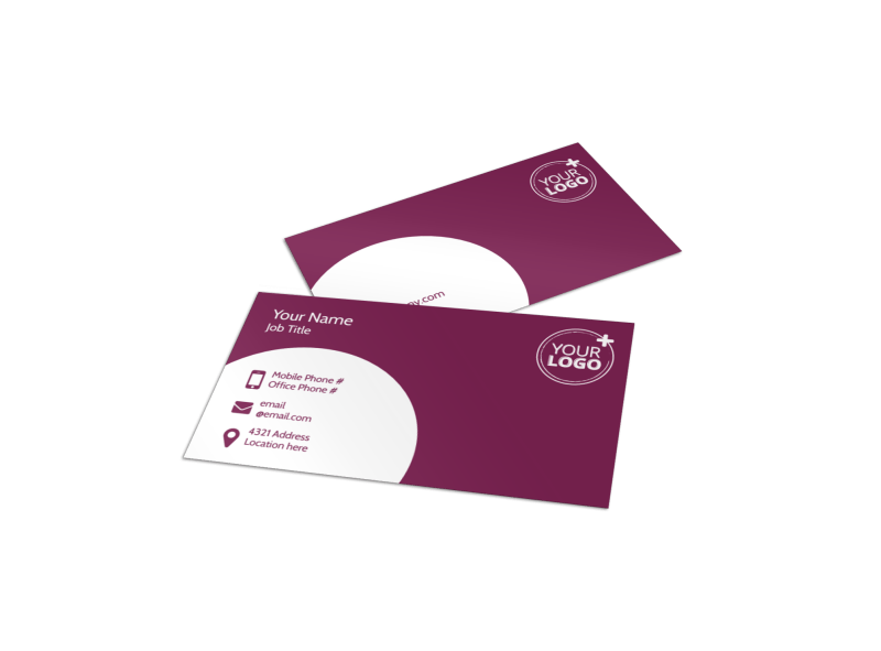 Core Yoga Fitness Business Card Template Preview 1