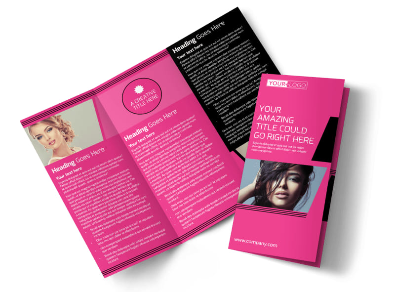 The Beauty Parlour Tri-Fold Brochure Template
