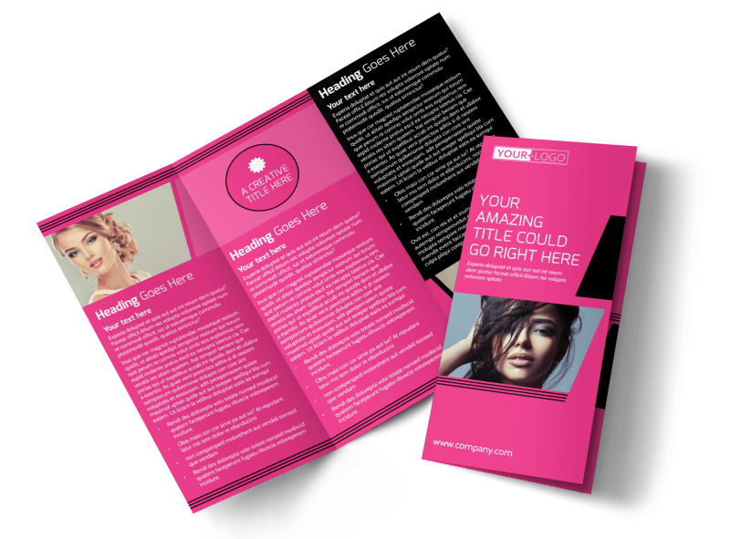 The Beauty Parlour Brochure Template Preview 1
