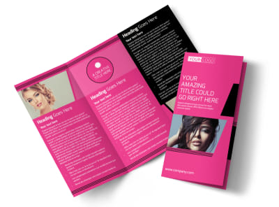 The Beauty Parlour Tri-Fold Brochure Template preview