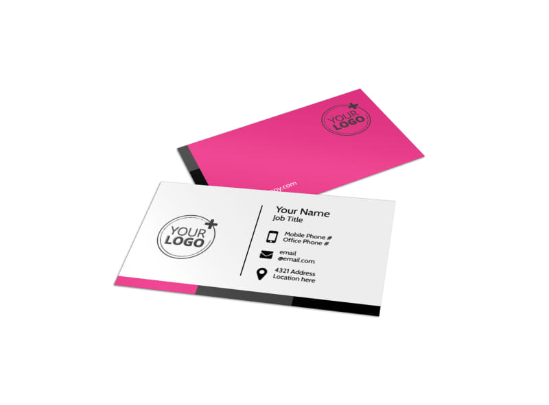 The beauty parlour business card template mycreativeshop the beauty parlour business card template reheart Choice Image