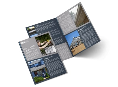 Reliable Roof Cleaning Bi-Fold Brochure Template 2