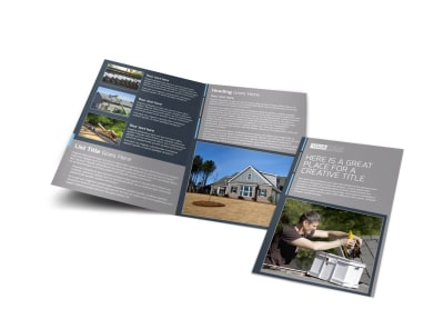 Reliable Roof Cleaning Bi-Fold Brochure Template