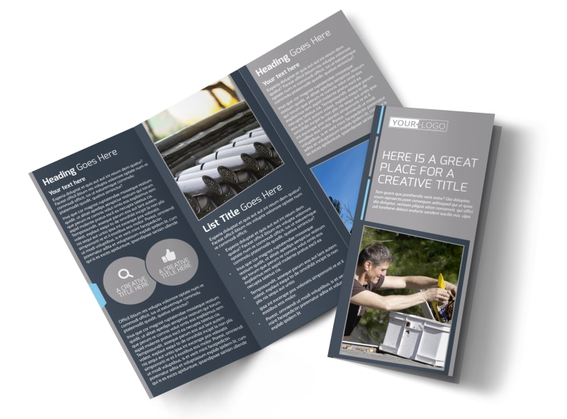 Reliable Roof Cleaning Brochure Template Preview 4