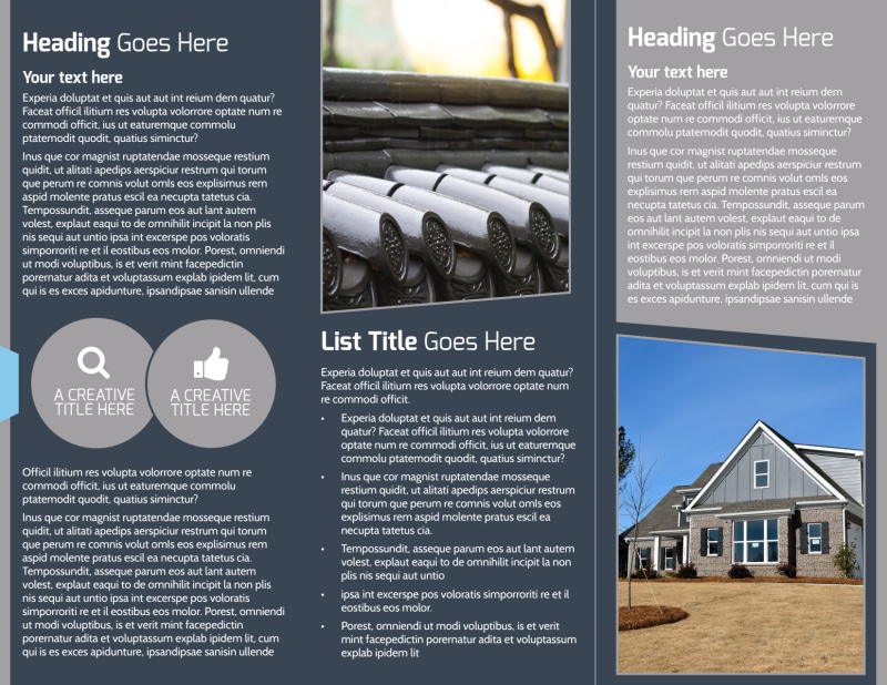 Reliable Roof Cleaning Brochure Template Preview 3