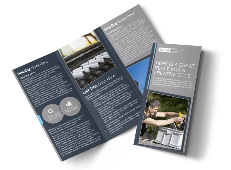 Reliable Roof Cleaning Brochure Template Preview 1
