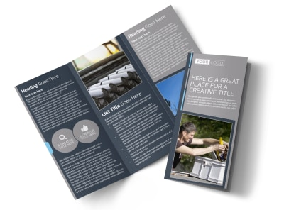 Reliable Roof Cleaning Tri-Fold Brochure Template preview