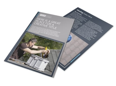 Reliable Roof Cleaning Flyer Template 3 preview