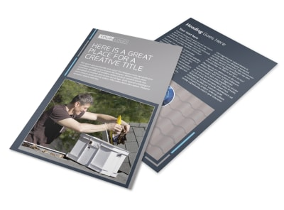 Reliable Roof Cleaning Flyer Template 3