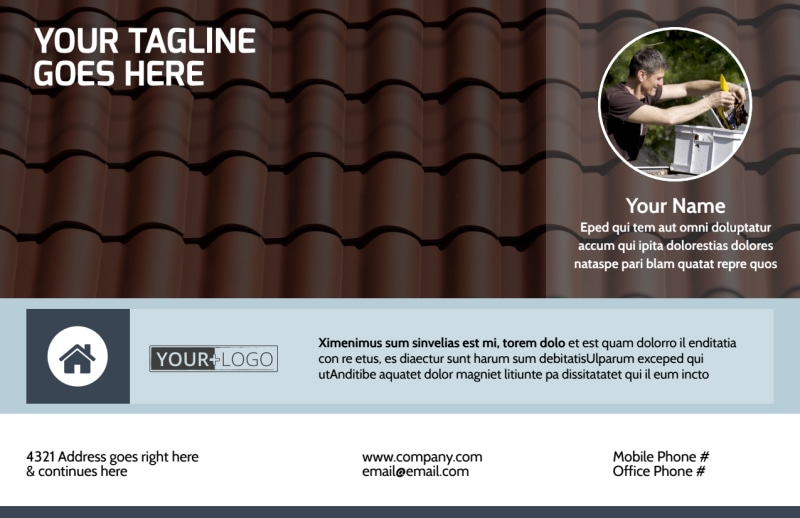 Reliable Roof Cleaning Postcard Template Preview 2