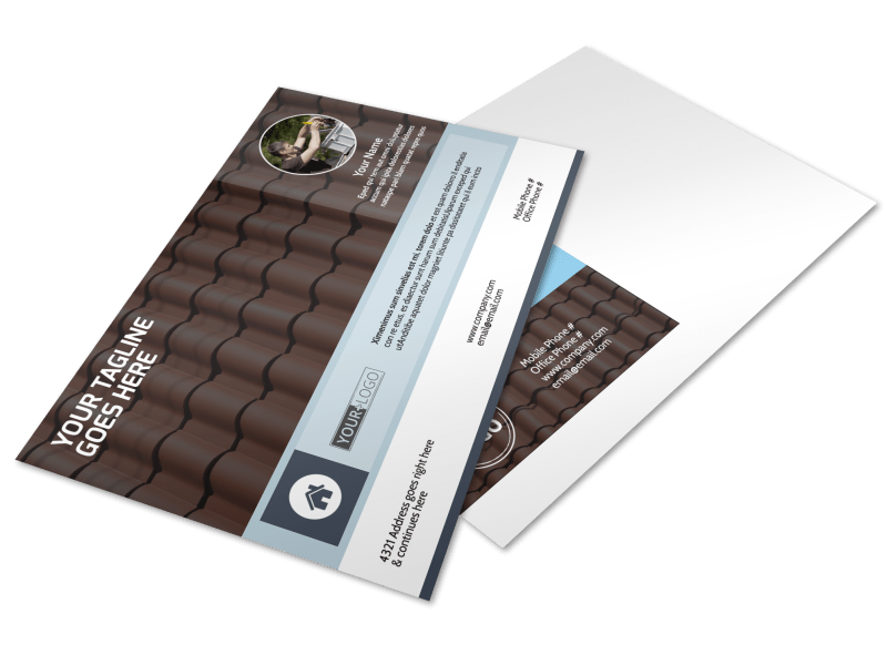 Reliable Roof Cleaning Postcard Template Preview 1