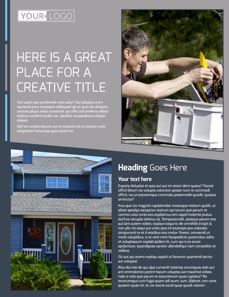 Reliable Roof Cleaning Flyer Template Preview 2