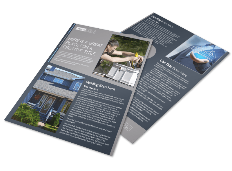Reliable Roof Cleaning Flyer Template Preview 1