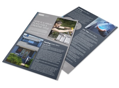 Reliable Roof Cleaning Flyer Template preview