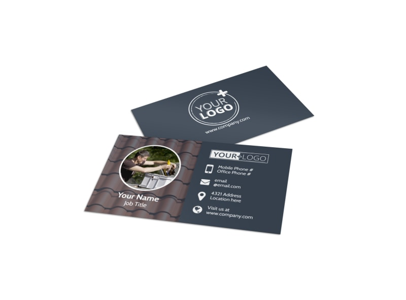 Reliable Roof Cleaning Business Card Template Preview 4