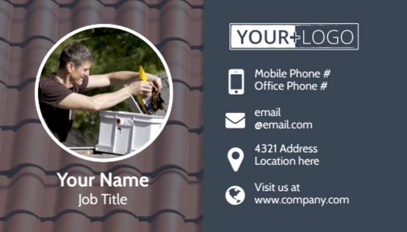 Reliable Roof Cleaning Business Card Template Preview 2