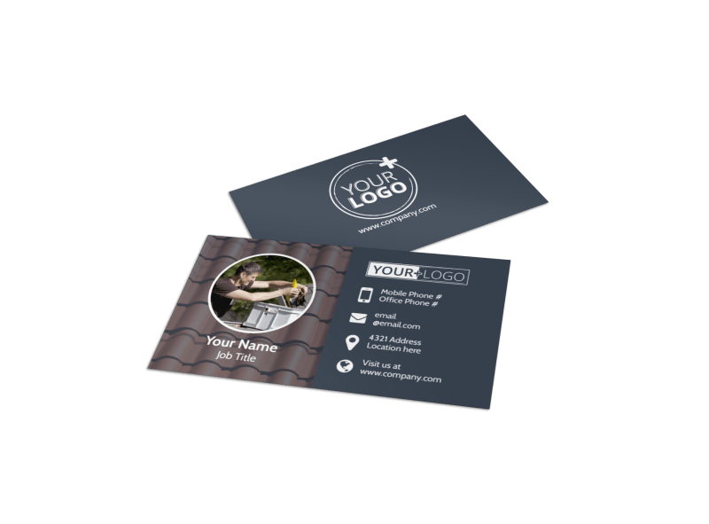 Reliable Roof Cleaning Business Card Template Preview 1