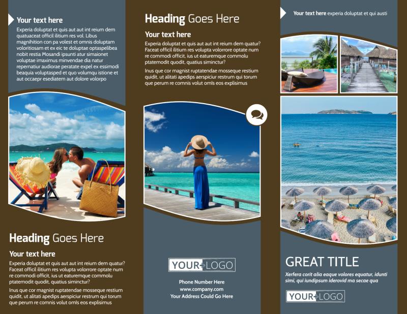 Luxury Ocean Beach Resort Brochure Template Preview 2