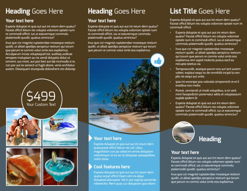 Luxury Ocean Beach Resort Brochure Template Preview 3