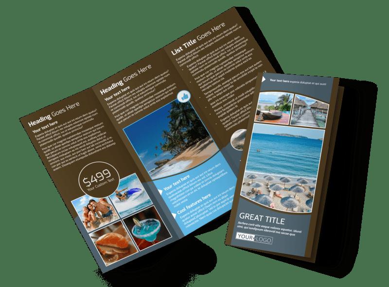 Luxury Ocean Beach Resort Brochure Template Preview 1
