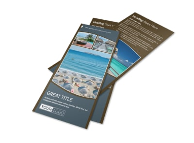 Luxury Ocean Beach Resort Flyer Template 2