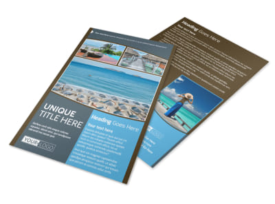 Luxury Ocean Beach Resort Flyer Template 3