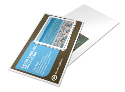 Luxury Ocean Beach Resort Postcard Template 2