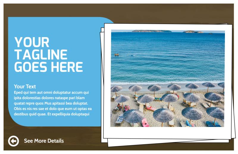 Luxury Ocean Beach Resort Postcard Template Preview 2