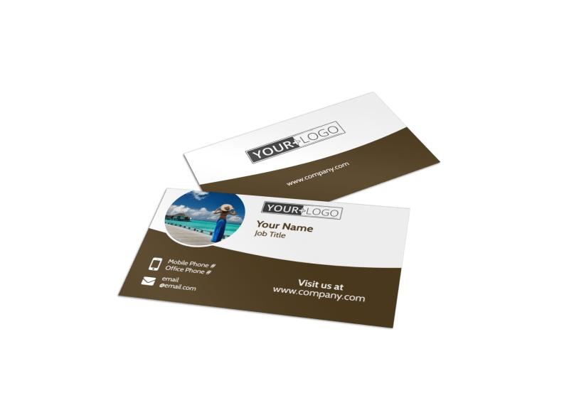 Luxury Ocean Beach Resort Business Card Template Preview 4