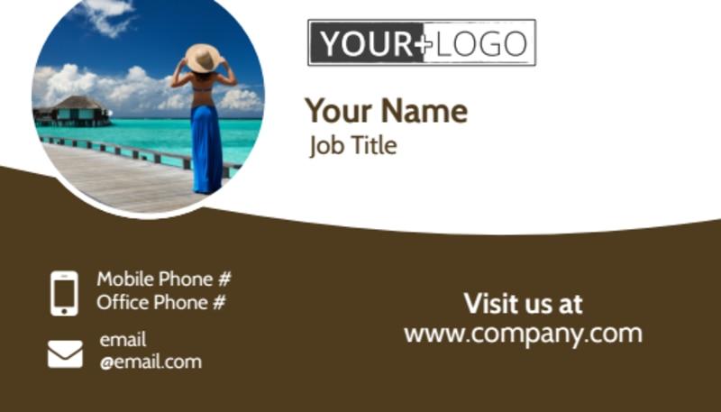 Luxury Ocean Beach Resort Business Card Template Preview 2