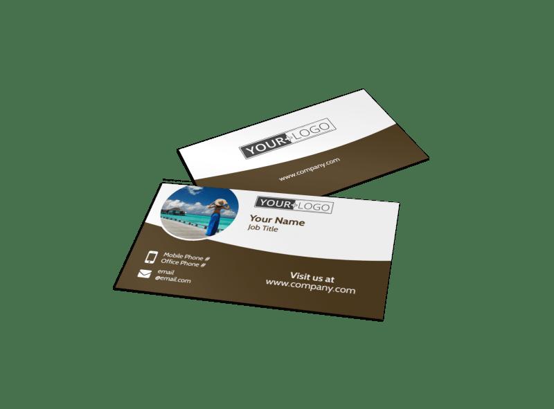 Luxury Ocean Beach Resort Business Card Template Preview 1