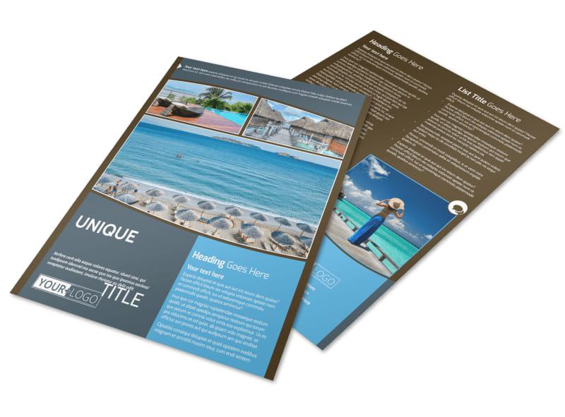 Luxury Ocean Beach Resort Flyer Template Preview 4