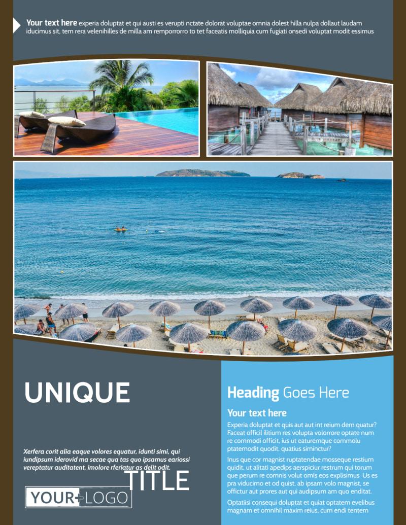 Luxury Ocean Beach Resort Flyer Template Preview 2