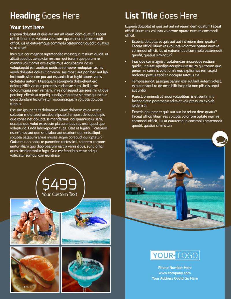 Luxury Ocean Beach Resort Flyer Template Preview 3