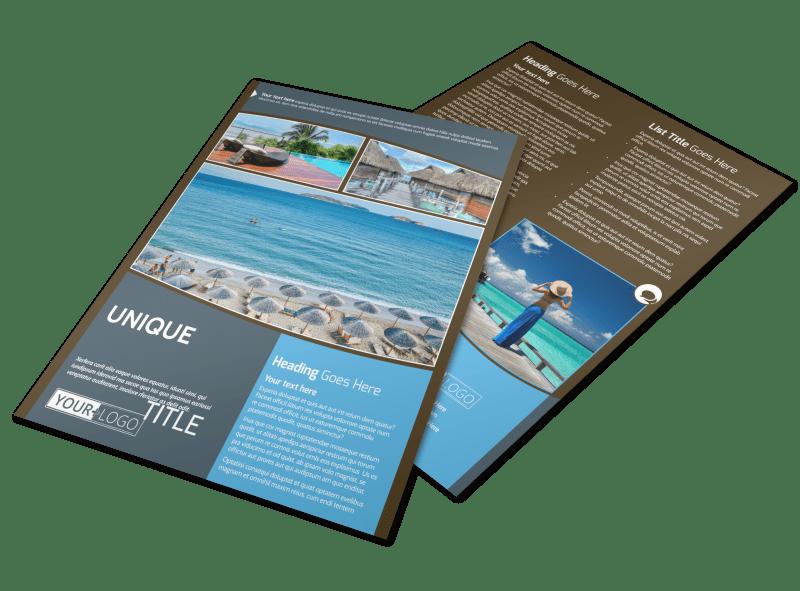 Luxury Ocean Beach Resort Flyer Template Preview 1