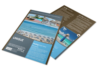 Luxury Ocean Beach Resort Flyer Template