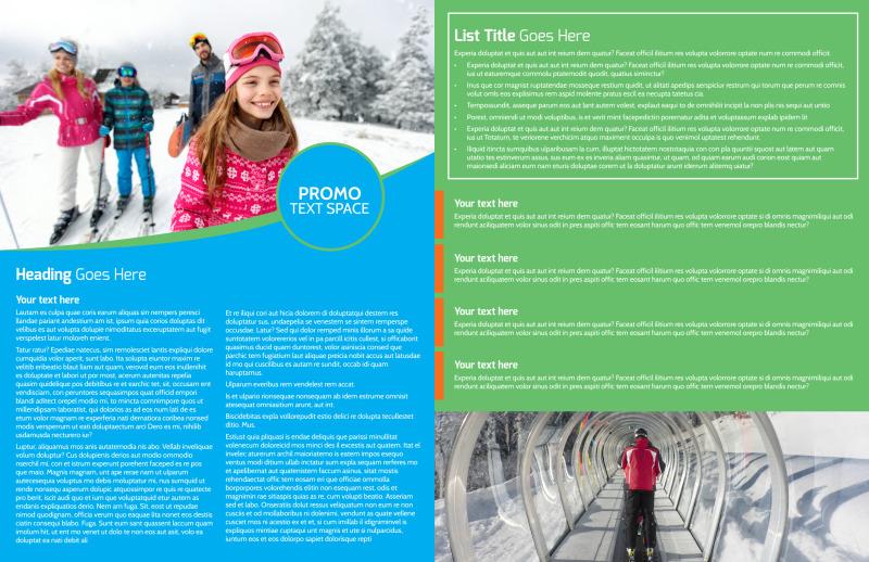 Popular Ski Resort Brochure Template Preview 3