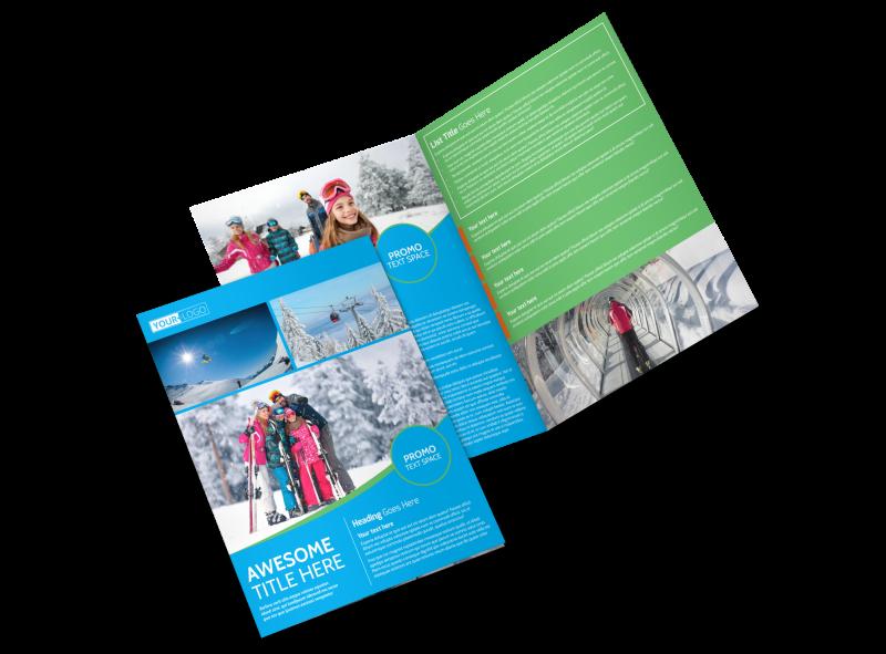 Popular Ski Resort Brochure Template Preview 1