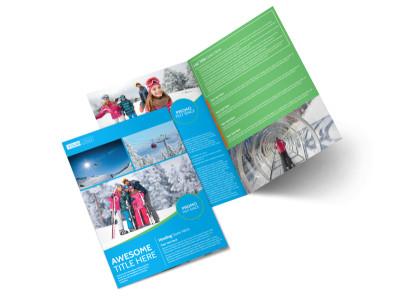 Popular Ski Resort Bi-Fold Brochure Template 2 preview
