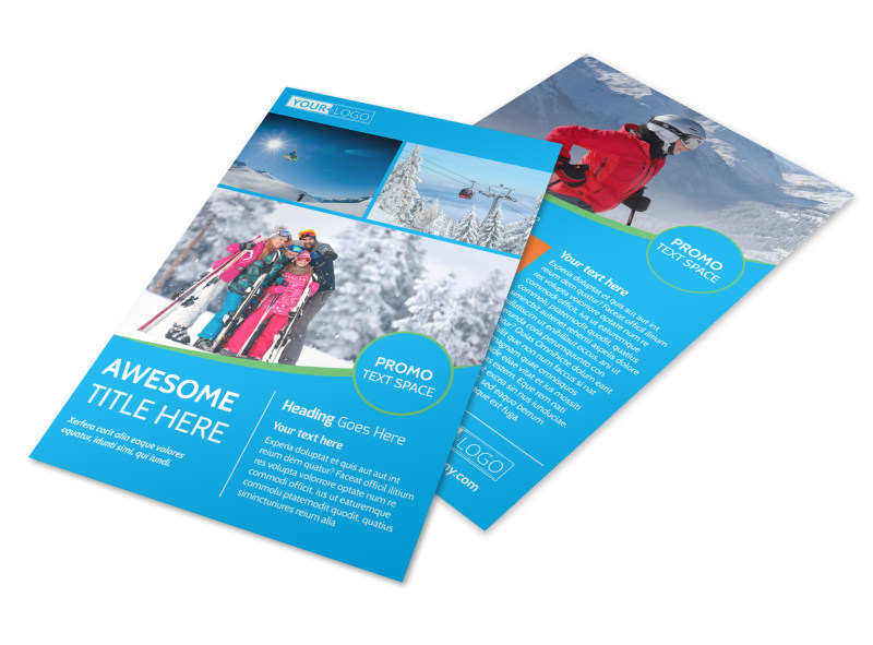 Popular Ski Resort Flyer Template 3
