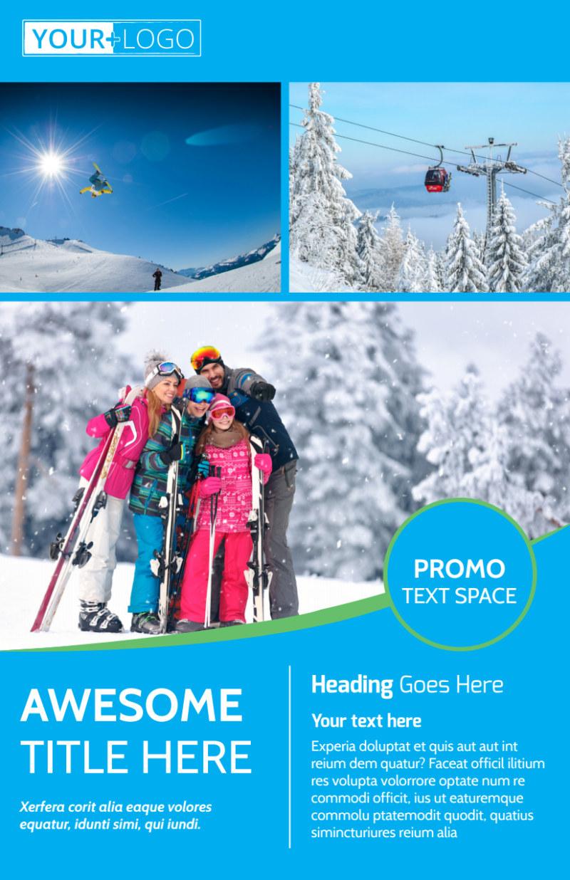 Popular Ski Resort Flyer Template Preview 2