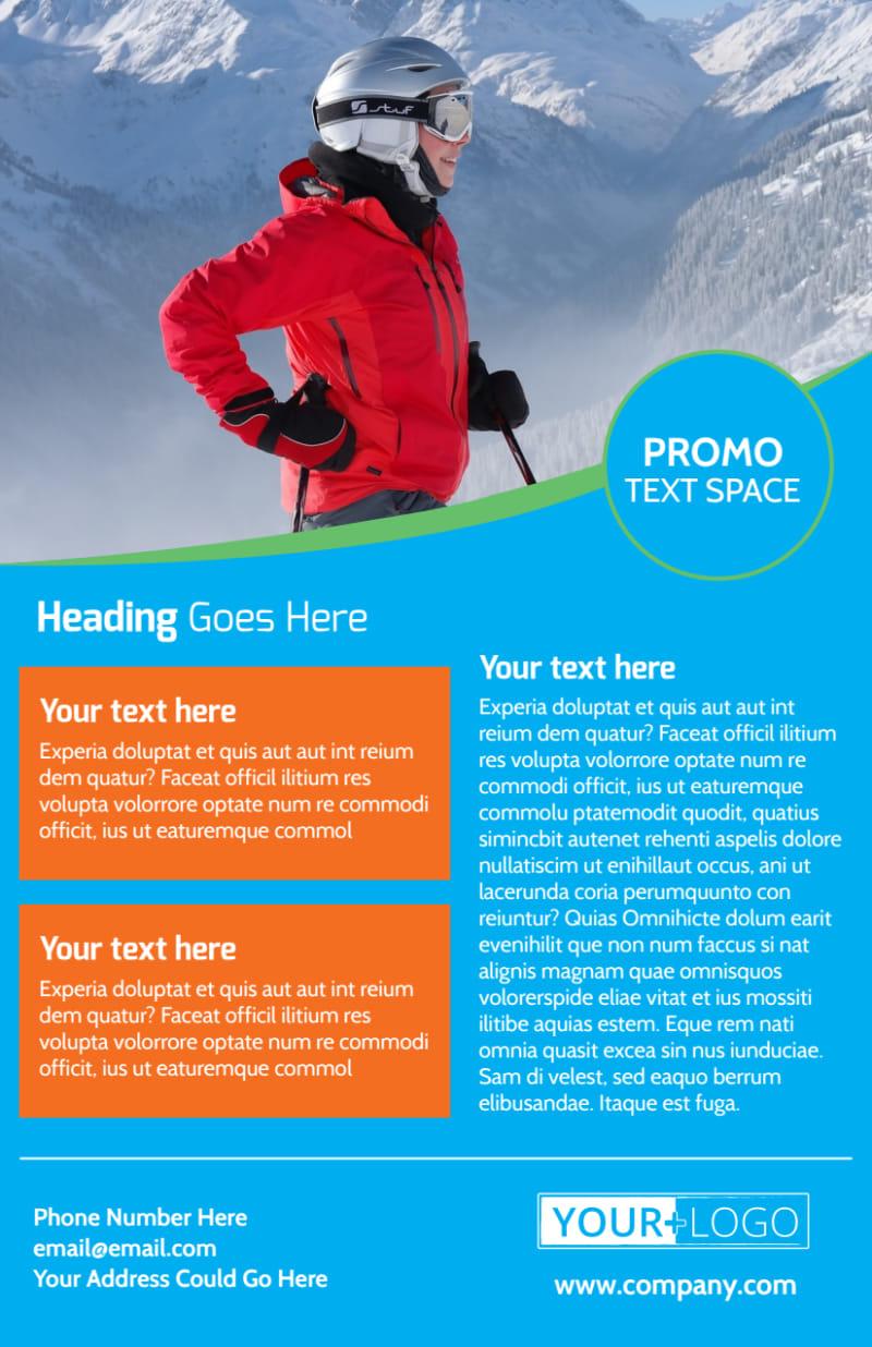 Popular Ski Resort Flyer Template Preview 3