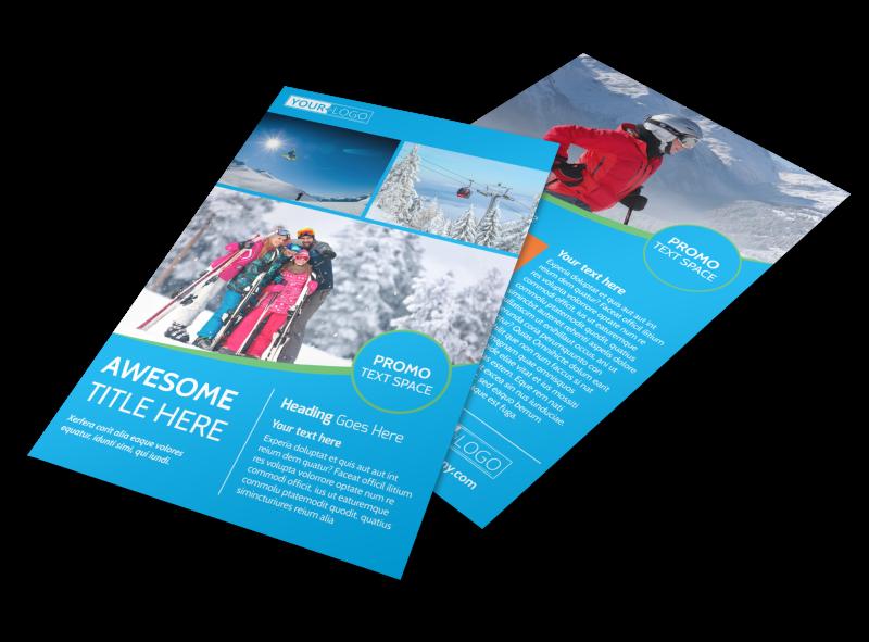 Popular Ski Resort Flyer Template Preview 1