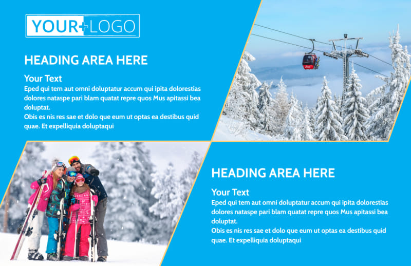 Popular Ski Resort Postcard Template Preview 2