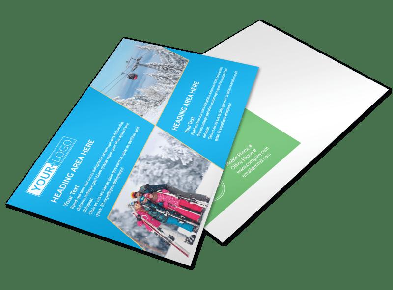 Popular Ski Resort Postcard Template Preview 1